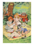 Children's Birthday Picnic Prints