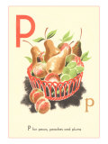 P is for Pears Poster