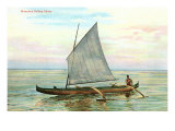 Hawaiian Sailing Canoe Poster
