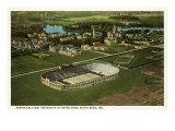 Aerial View, Stadium, Notre Dame, Indiana Art