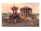 Temple of Vesta in Rome Print