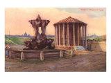 Temple of Vesta in Rome Prints