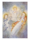 Ethereal Girls with Child in Magic Prism Art