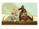 Two Singing Kittens Art