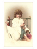 Little Girl with Dolls Prints