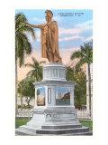 Kamehameha Statue, Honolulu, Hawaii Posters
