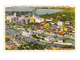 Aerial View, Quaker Oats Plant, Cedar Rapids, Iowa Prints