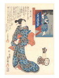 Geisha with Japanese Writing Art
