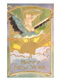 Happy New Year, Baby on Stork Posters