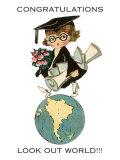 «Félicitations, Le monde t'appartient», jeune diplômé Affiche