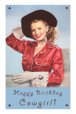Happy Birthday Cowgirl Prints