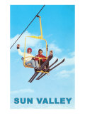 Ski Lift, Sun Valley, Idaho Poster