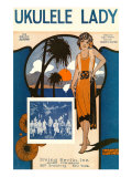 Ukulele Lady, Sheet Music, Art Deco Posters