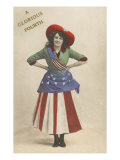 A Glorious Fourth, Girl in Flag Outfit Print