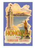 Honolulu and the Hawaiian Islands, Poster Posters