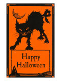 Happy Halloween, Black Cat Prints