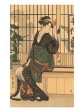 Japanese Woodblock, Lady&#39;s Portrait Print