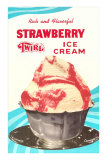 Strawberry Twirl Ice Cream Posters