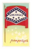 Arkansas Flag, Art Print