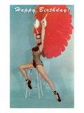 Joyeux anniversaire- Danseuse exotique Affiche