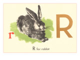 R is for Rabbit Posters