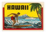 Hawaii, Surfer at Diamond Head, Cruise Ship Arte