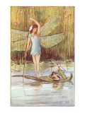 Fairy Floating on Leaf Posters