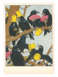 Corbeaux en société Poster