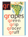 GR for Grape Posters