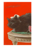 Je Porte Bonheur, Black Cat Print