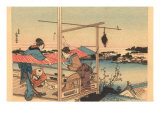 Japanese Woodblock, Fishing Posters