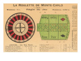 French Rules of Roulette Posters