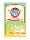 Minnesota Flag Art Print