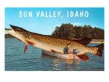 Sun Valley, Idaho, Giant Fish in Boat Prints