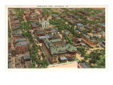 Aerial View of Savannah, Georgia Prints