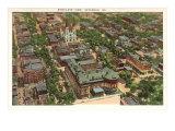 Luftansicht von Savannah, Georgia Kunstdrucke