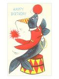 Happy Birthday, Performing Seal Print