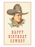 Happy Birthday Cowboy Prints