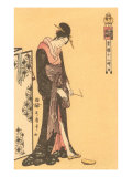 Japanese Woodblock, Geisha Prints