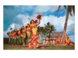 Hula Dancers, Hawaii Prints