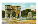 Arch of Constantine and Meta Sudans Fountain, Rome, Italy Posters