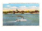 Skyline of Davenport, Iowa Prints