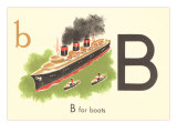 B is for Boats Prints
