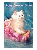 Happy Birthday Kitten Poster