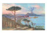 View of Bay of Naples, Italy Print