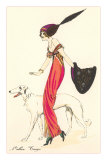 French Fashion, Borzoi Posters