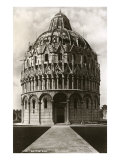 Baptistry, Pisa, Italy Posters