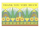 Thank You Very Much, Art Nouveau Frieze Posters