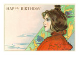 Happy Birthday, Art Nouveau Prints