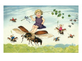 Children Riding Bees Prints